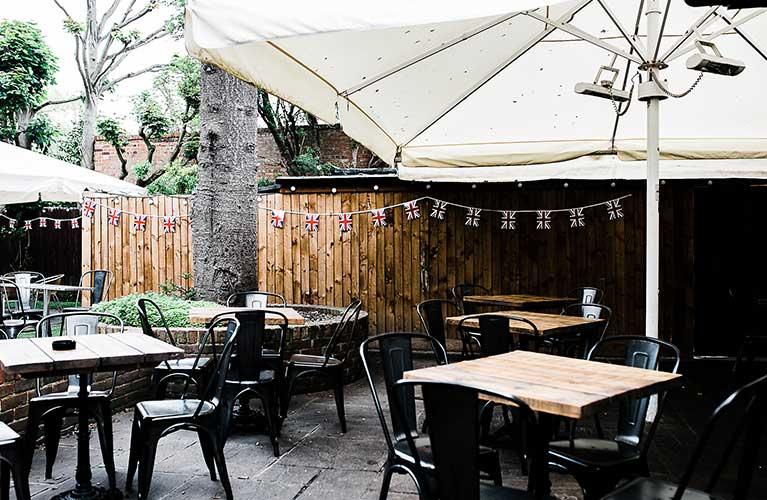 lovely beer garden in Dorney